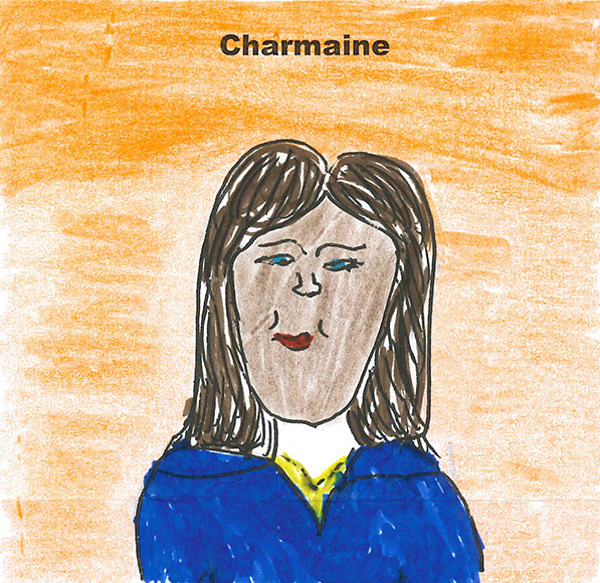 Independent fostering agencies worker Charmaine - An employee of Fostering Dimensions drawn by a foster child