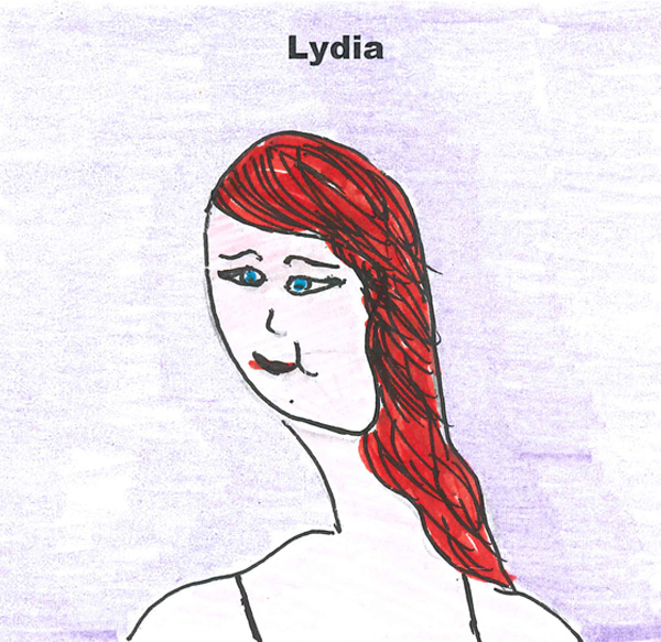 Independent fostering agencies worker Lydia - An employee of Fostering Dimensions drawn by a foster child